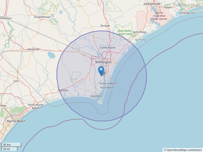 WWQQ-FM Coverage Map
