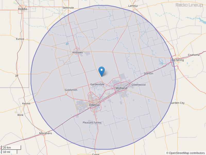 KNFM-FM Coverage Map