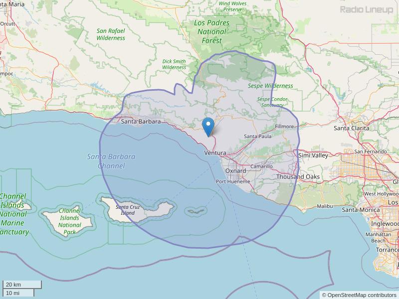 KDAR-FM Coverage Map