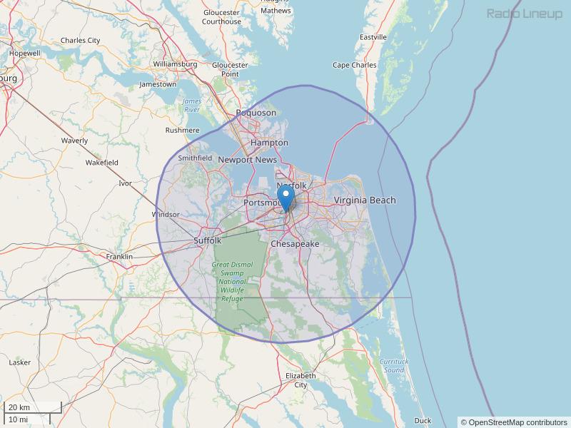 WMOV-FM Coverage Map