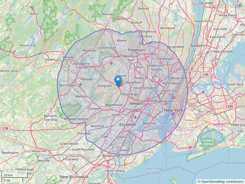 WFMU-FM Coverage Map