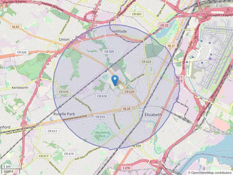 WKNJ-FM Coverage Map