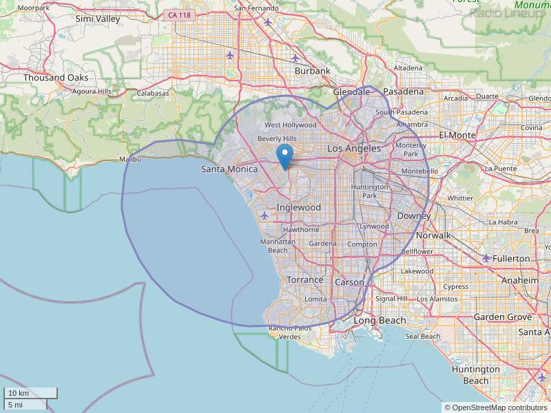 KDLD-FM Coverage Map