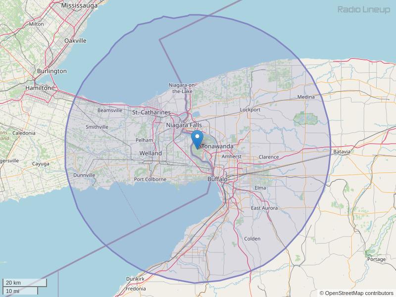 WKSE-FM Coverage Map