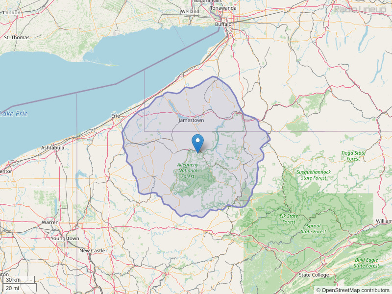 WRRN-FM Coverage Map