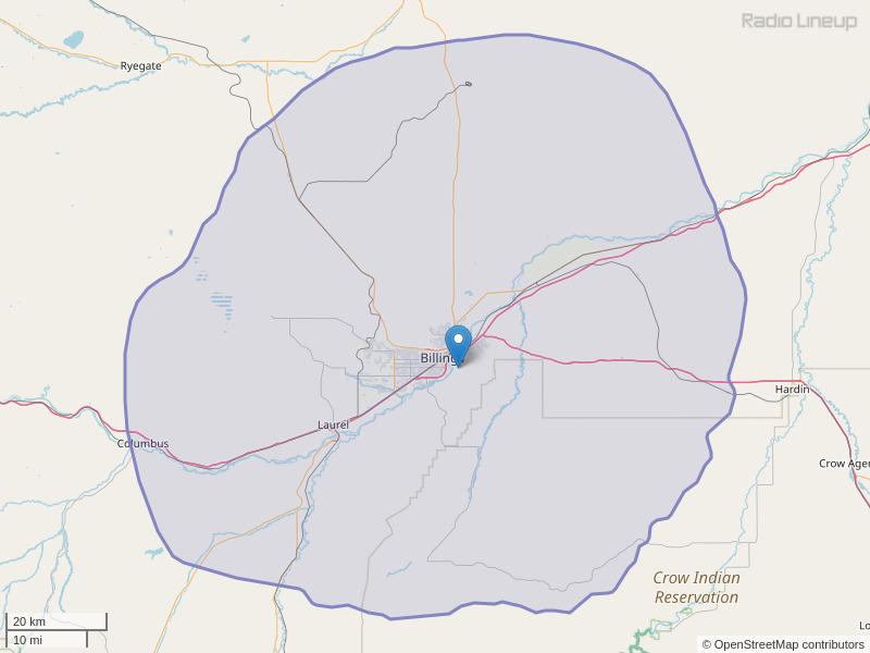 KMHK-FM Coverage Map