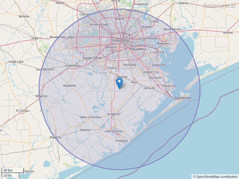 KROI-FM Coverage Map