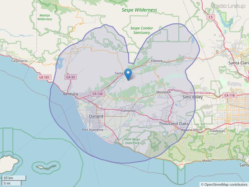 KLJR-FM Coverage Map