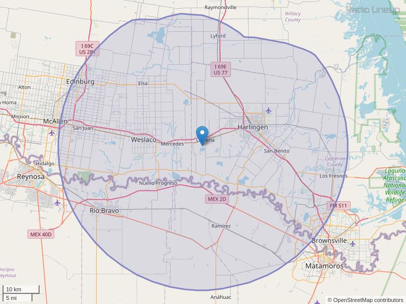KHKZ-FM Coverage Map