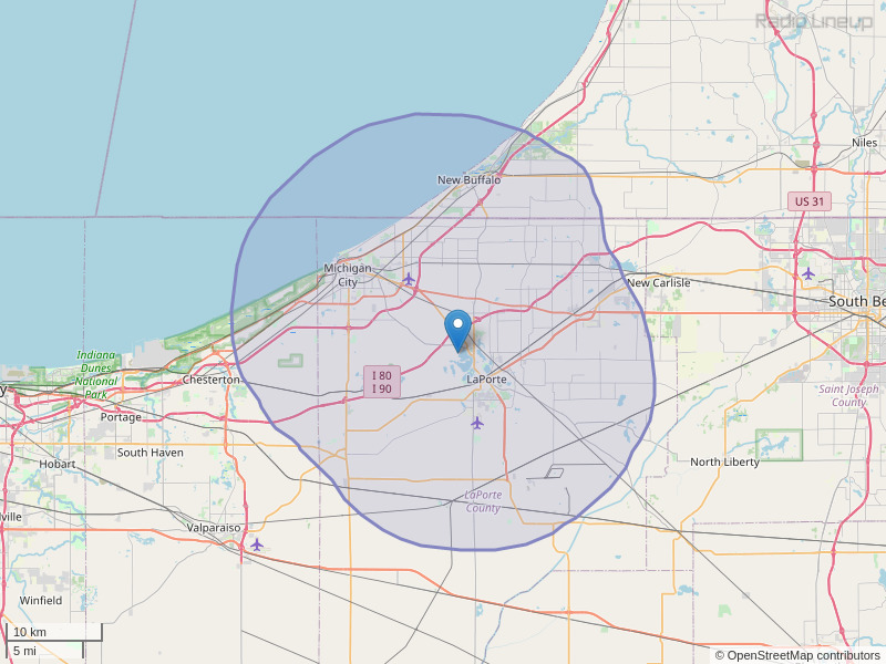 WCOE-FM Coverage Map