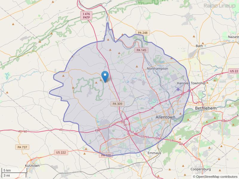 WLHI-FM Coverage Map