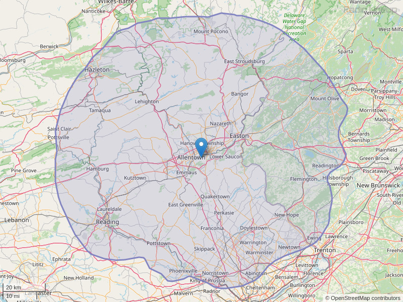 WCTO-FM Coverage Map