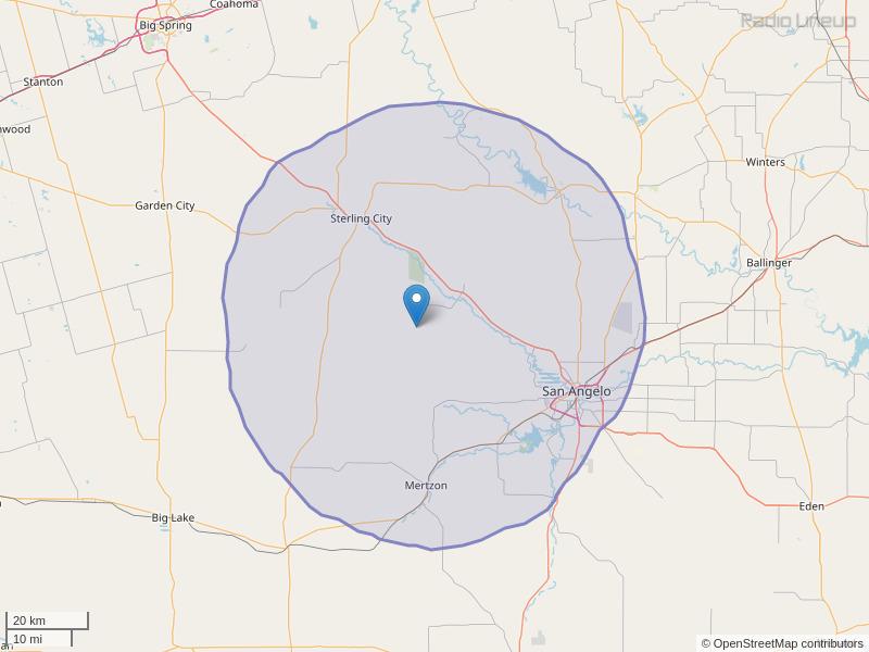 KNRX-FM Coverage Map