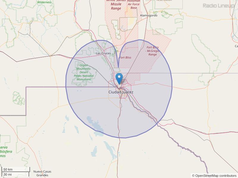 KOFX-FM Coverage Map