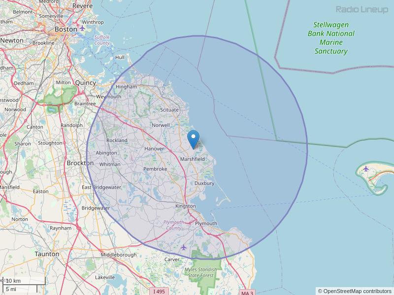 WATD-FM Coverage Map
