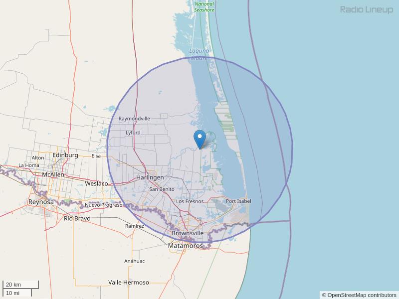 KNVO-FM Coverage Map