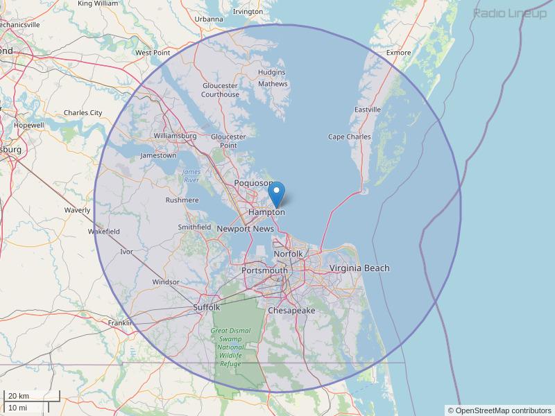 WNVZ-FM Coverage Map
