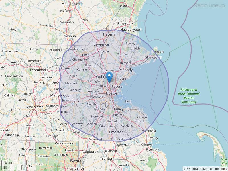 WBWL-FM Coverage Map