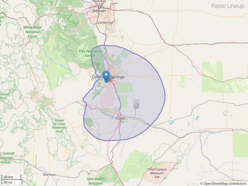 KBPL-FM Coverage Map