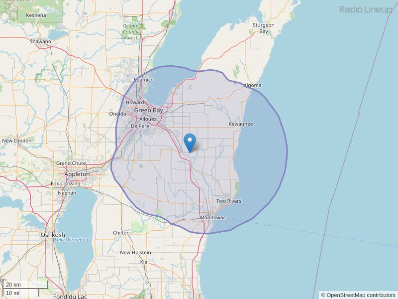 WZOR-FM Coverage Map