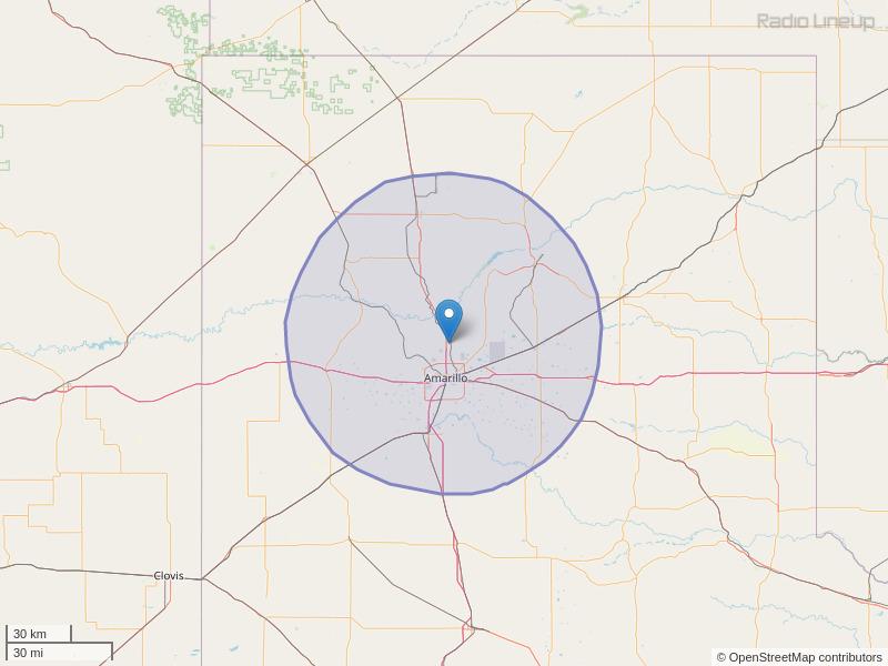 KATP-FM Coverage Map