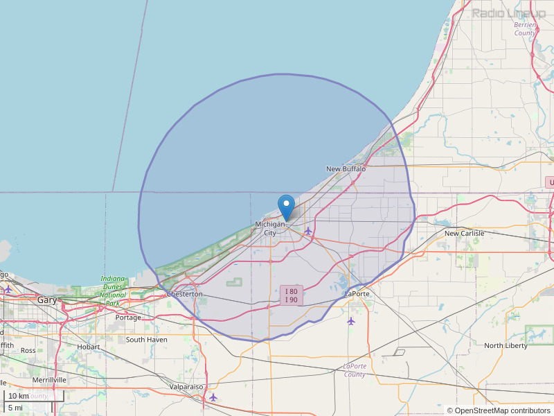 WEFM-FM Coverage Map