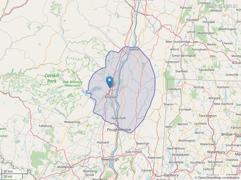 WBPM-FM Coverage Map