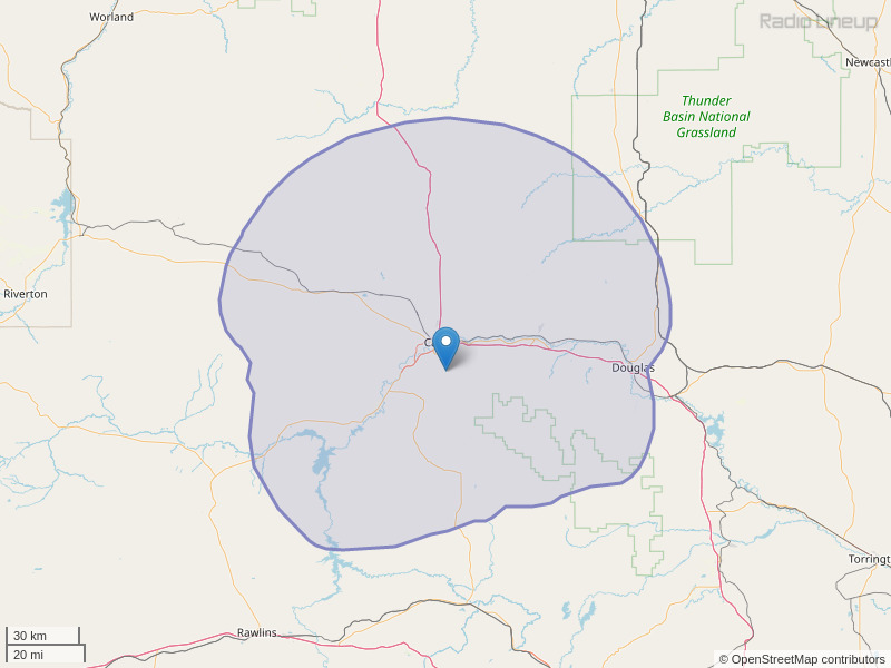 KASS-FM Coverage Map