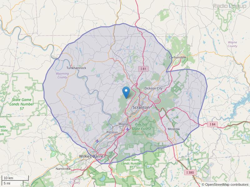 WBHD-FM Coverage Map