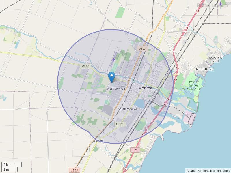 WERW-FM Coverage Map