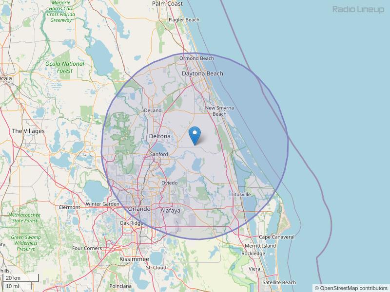 WNUE-FM Coverage Map