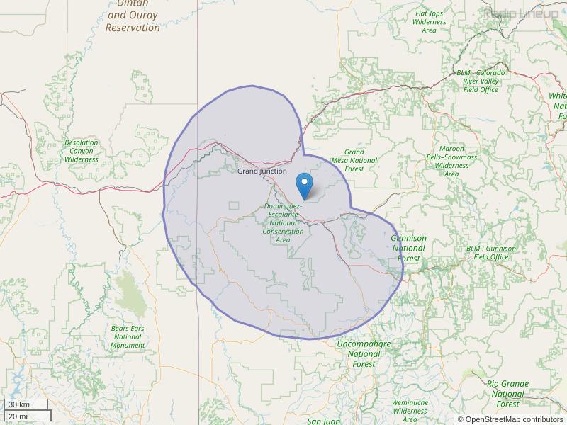 KKNN-FM Coverage Map