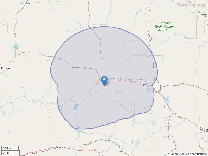KQLT-FM Coverage Map