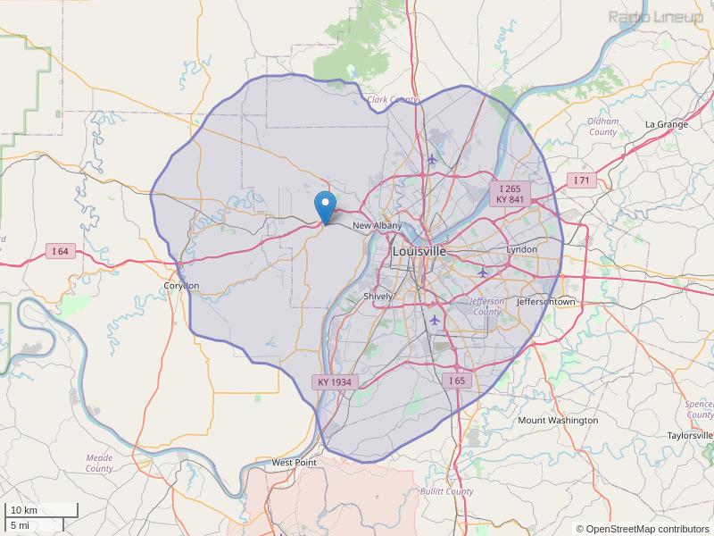 WFIA-FM Coverage Map