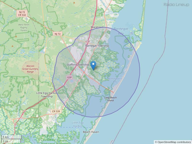 WNJM-FM Coverage Map