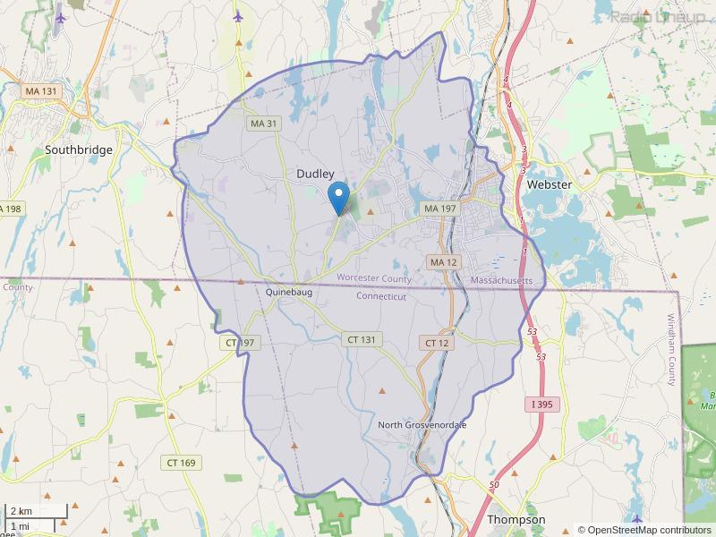 WXRB-FM Coverage Map