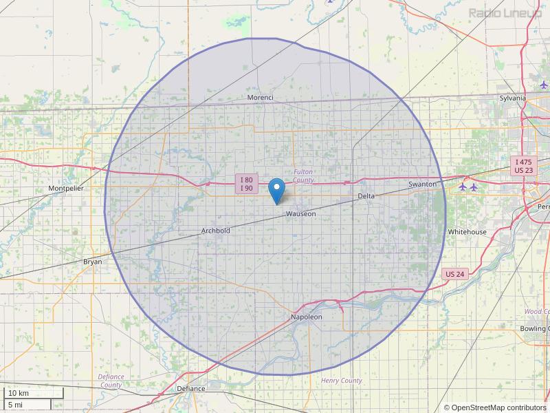 WMTR-FM Coverage Map
