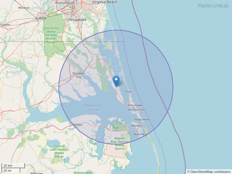 WKJX-FM Coverage Map