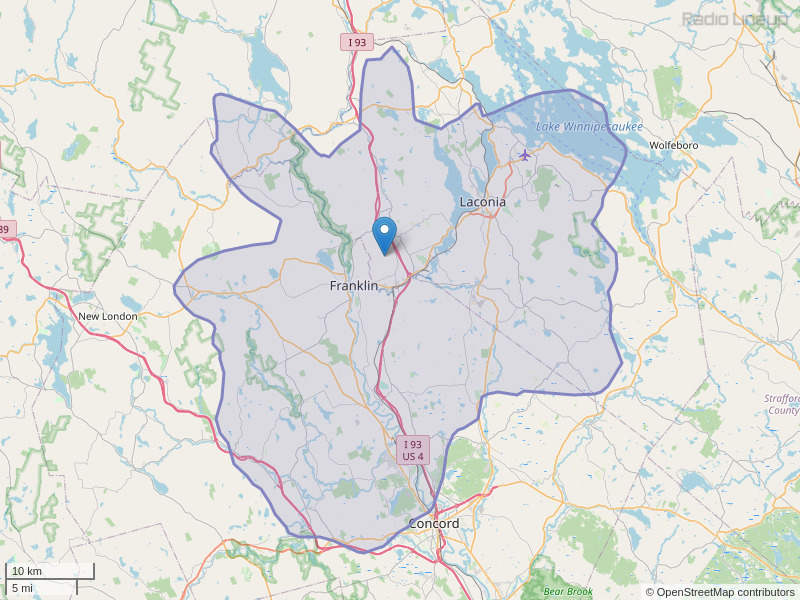WFTN-FM Coverage Map