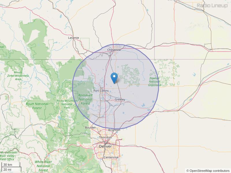 KUAD-FM Coverage Map