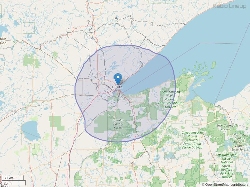 KKCB-FM Coverage Map