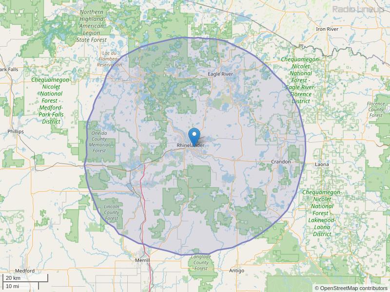 WRHN-FM Coverage Map