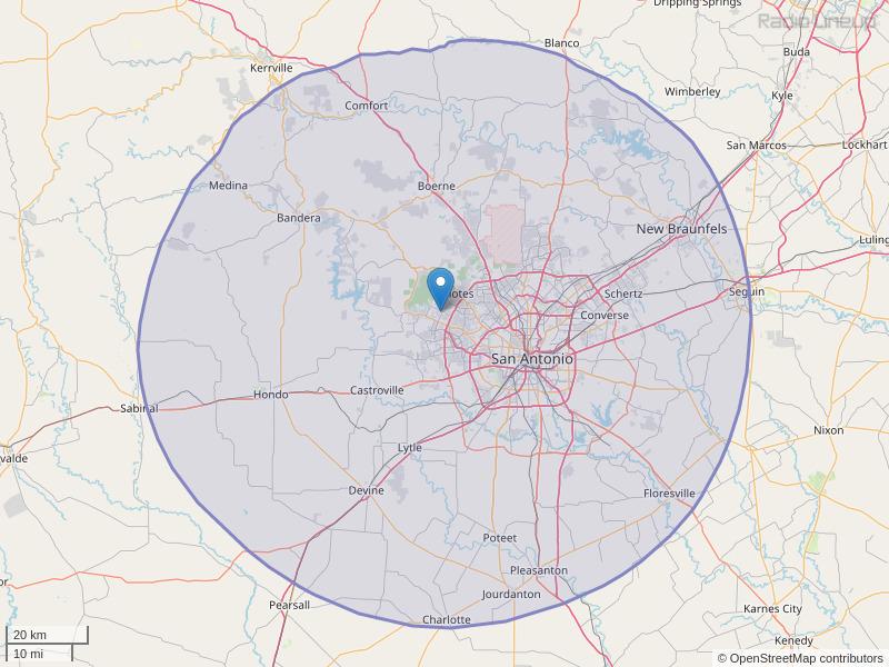 KONO-FM Coverage Map