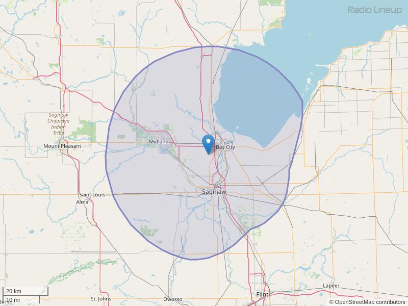 WLKB-FM Coverage Map