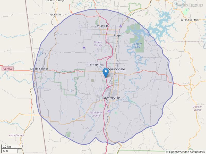KXRD-FM Coverage Map