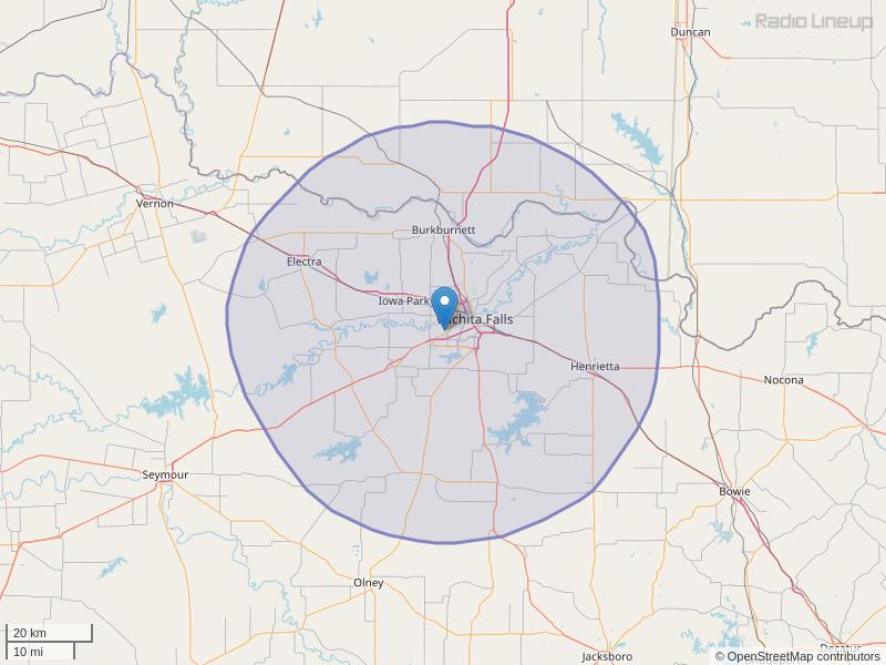 KBZS-FM Coverage Map