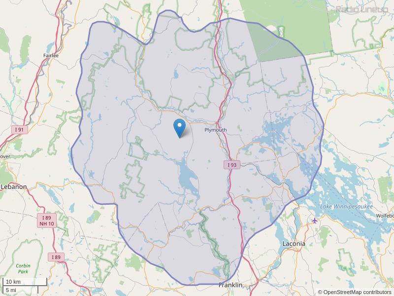 WPNH-FM Coverage Map