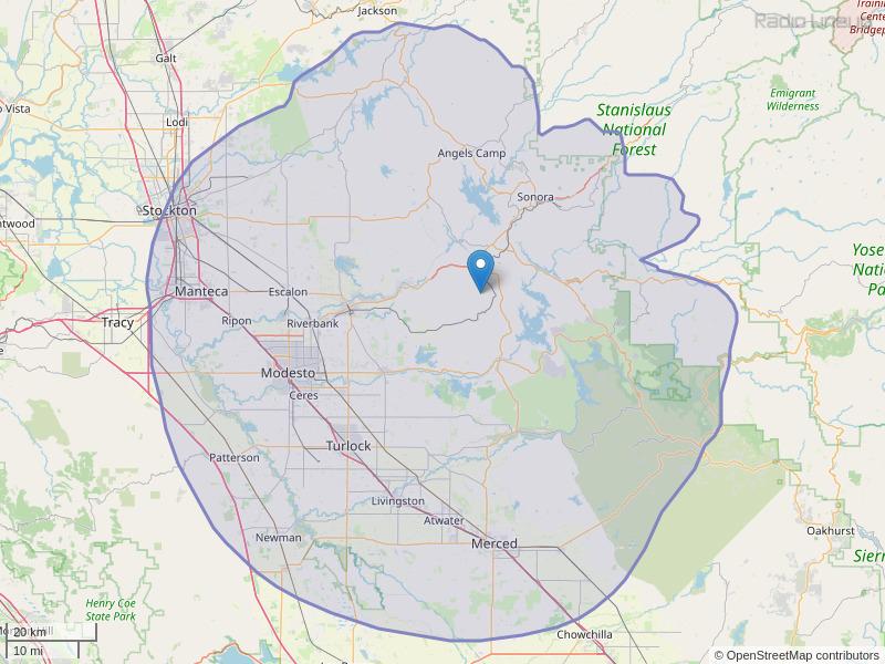 KHOP-FM Coverage Map