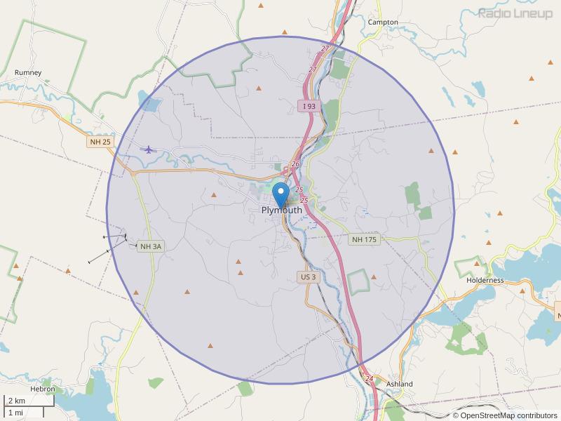 WPCR-FM Coverage Map