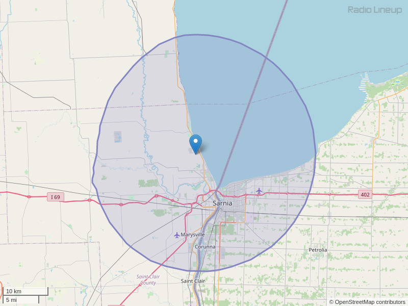 WGRT-FM Coverage Map